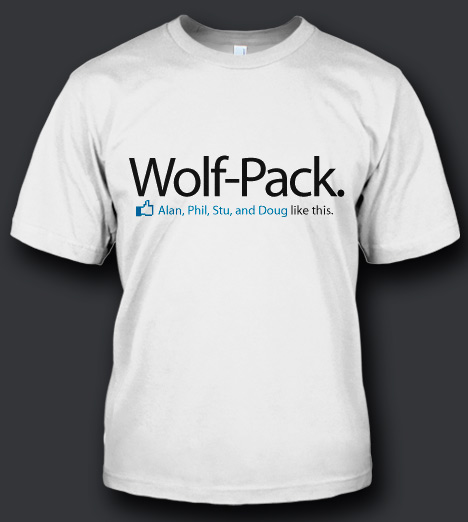 WOLF-PACK STU, PHIL, ALAN LIKE THIS T-SHIRT